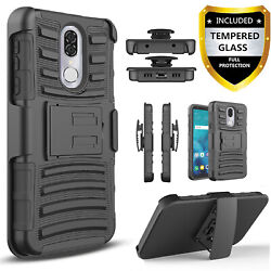 For Coolpad Legacy Phone Case Belt Clip Cover+Tempered Glass Screen Protector