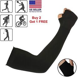 Cooling Sleeves Arm Cover UV Sun Protection Outdoor Sports Unisex 1 Pair