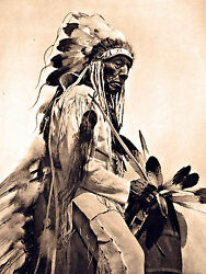 1930 NATIVE Cheyenne AMERICAN INDIAN western antique Horse photo 20quot;x14quot; $18.98