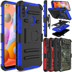 For Samsung Galaxy A50 A20 A10e Case Shockproof Bumper With Belt Clip Kickstand