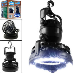 Portable Tent LED Light Lamp Fan Camping Hiking Outdoor Equipment Ceiling New