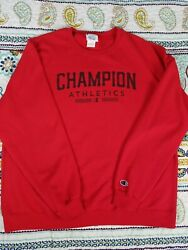 Champion Sportswear Eco Wear Red Crewneck Sweatshirt Mens Sz XL Vintage $18.99