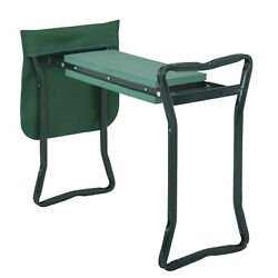 Green Garden Foldable Kneeler Kneeling Bench Stool Cushion Seat Pad Tool Pouch $26.99
