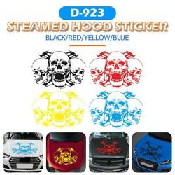 39x60cm Triple Skull Head Car Styling Sticker Graphics Decal for Car Hoods