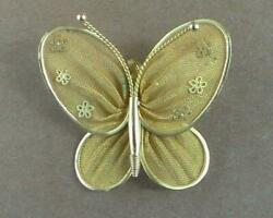 Vintage Mesh Butterfly Pin Brooch Pendant