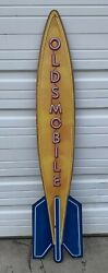 Oldsmobile Sign Vintage Style Neon Look Rocket 8 Gas Oil Garage Wall Art Decor