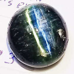 20.24CT VERY RARE BEAUTIFUL  NATURAL  EARTH MINED SHARP LINE TOURMALINE CATSEYE
