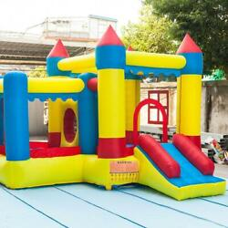 Inflatable Bounce House With Slide Bouncer Kids Jumper Bouncer Castle Backyard