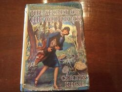 Nancy Drew The Secret Of The Old Clock wdust cover 1930