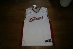 NBA Adidas Cleveland Cavaliers Cavs Blank Jersey White Size XL