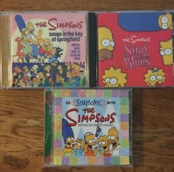 Lot of 3 Simpsons CDs: Sings the Blues Songs in the Key of Go Simpsonic VG+