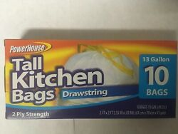 Tall Kitchen Bags Drawstring 13 Gal Fast Shipping $2.96