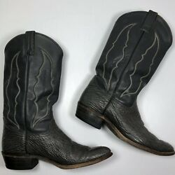 ABILENE Gray Boots Mens Size 9.5 Exotic Shark Leather western cowboy 6720