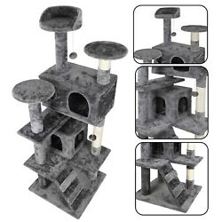 53quot; STURDY Cat Tree Tower Activity Center Large Playing House Condo For Rest $51.99