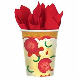 Pizza Party Food Kitchen Theme Kids Birthday Party 9 oz. Paper Cups $6.66