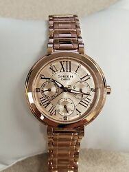 Casio Sheen Pink Gold Dial Stainless Steel Ladies Watch She-3034Pg-9Audr