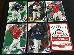 2019 TOPPS NATIONAL BASEBALL CARD DAY TEAM SET TEXAS RANGERS SGA GALLO rare!