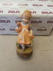 Vintage Handcarved Wooden 3 Inch Dolfi Doll Made In Italy in Box