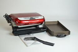 George Foreman 5-Serving Multi-Plate Evolve Grill System with Cerami  - Preowned