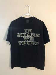 """WWE Shane McMahon """"The Money"""" In Shane We Trust Double Sided Tshirt Sz Large"""