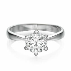 2.84 CT Dazzling Round Cut Enhanced Diamond Engagement Ring 18K White Gold FSI2