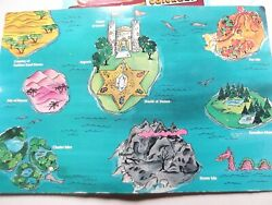 Vintage Galoob GOLDEN GIRL doll figure CASE Map scenery name STICKERS she-ra