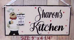 FAT CHEF ITALIAN PERSONALIZED SIGN WALL KITCHEN BISTRO CUCINA DECOR ANY NAME . $12.95