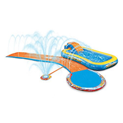 Inflatable Water Slides Splash Park 3-in-1 Backyard Inflatable Swimming Pool New