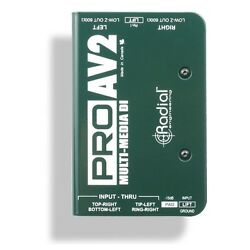Radial Engineering ProAV2 Stereo DI Swiss Army Knife Multi-media Direct Box