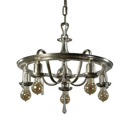 Neoclassical Silverplate Chandelier with Prisms Antique Lighting NC3512 $695.00