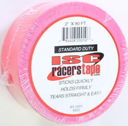 ISC RT2001 RACERS TAPE 2quot;X90#x27; RED $14.40