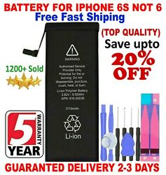Battery For iPhone 6s internal replacement 1715mAh Free oem Tools amp; tape $11.99