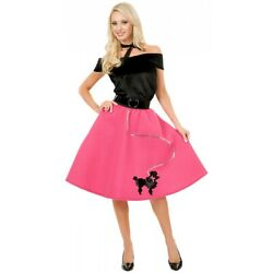 Poodle Skirt Costume Adult 50s Outfit Halloween Fancy Dress $33.43