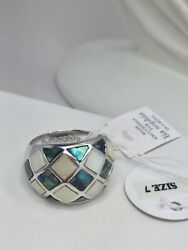 Lia Sophia Mother Of Pearl Ring Size 7