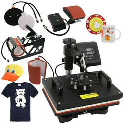 USED 5in1 Heat Press Machine Digital Dual LCD controller Sublimation Transfer