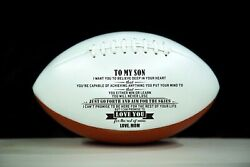 To My Son Love You From Mom Engraved American Football Gift Anniversary Birthday