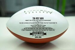 To My Son Love You From Dad Engraved American Football Gift Anniversary Birthday