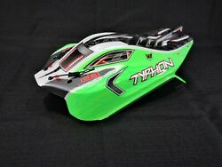 Arrma Typhon 4x4 MEGA / 4s Green White Black Painted Body Shell w/ Body Clips $19.99
