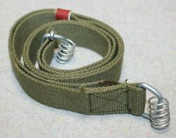 New Chinese SKS Green Double Spring Sling Coil Ends Unissued + Leather Keeper