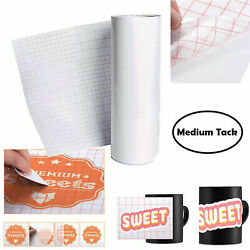 Transfer Paper Vinyl Tape Roll Premium Clear Professional Adhesive Decals 12