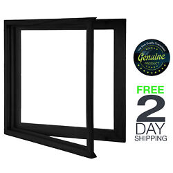 Vinyl Record Frame Solid Wood Clear Acrylic Display Album Black LP Open Close