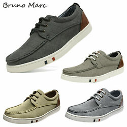 Bruno Marc Mens Fashion Casual Shoes Low Top Canvas Lace up Driving Boat Shoes $22.13