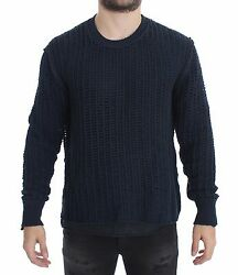 DOLCE amp; GABBANA Blue Runway Netz Pullover Netted Sweater s. 48 M RRP $880