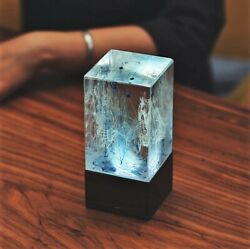 EPlight Art Lamp Ambient night light Resin and wood table decor holiday gift $79.00
