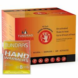 Tundras Hand & Toe Body Warmers 40 Count – Safe and Odorless Single TSA Approved