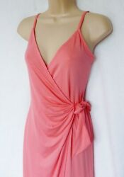 BNWT new LIPSY summer beach holiday coral pink wrap strappy jersey short dress  $24.87