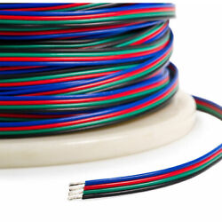 4-PIN RGB Extension Connector Wire Cable Cord For 35285050 RGB LED Strip Light $10.99