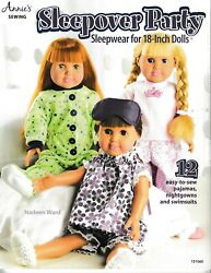 Sleepover Party for 18 Inch Dolls Annie#x27;s 151060 Orig Price $14.95 NEW $6.75