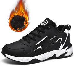 Mens Winter Snow Shoes Athletic Walking Running Tennis Shoes Fashion Sneakers $31.01