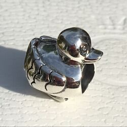 NWT Authentic Pandora Sterling Silver Charm Duck 790955